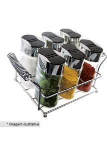 Conjunto De Porta Condimentos Com Suporte- Incolor & Preeuro Homeware