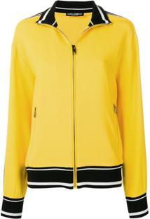 Dolce & Gabbana Jaqueta Com Listras Contrastantes - Amarelo