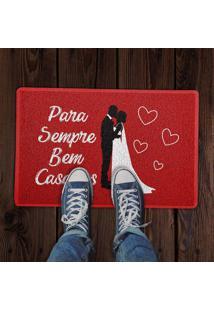 Capacho Para Sempre Bem Casados Vermelho 0,40X0,60M Beek