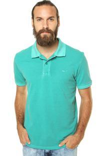 Camisa Polo Coca-Cola Jeans Piquet Estonada Verde