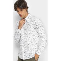 c00891d29 Camisa Colcci Manga Longa Estampa Folhagem Slim Masculina - Masculino