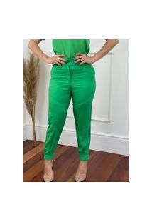 Calça Skinny Dois Botões Verde