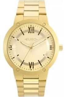 Relógio Feminino Euro Ouse Ser Você Mesma Eu2035Ym - Unissex-Dourado