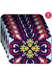 Jogo Americano Love Decor Wevans Mandala Colorful Kit Com 6 Pçs