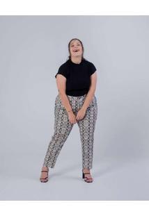 Calça Almaria Plus Size Miss Taylor Reta Estampada