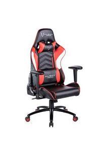 Cadeira Gamer Husky Storm Red Black White - Hst-Rbw