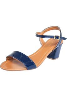 Sandália Fiveblu Salto Grosso Azul