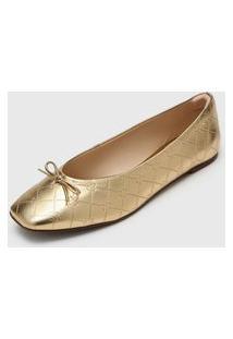 Sapatilha Capodarte Metalizada Dourada
