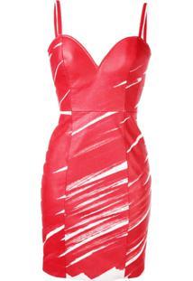 Moschino Vestido Bodycon - Vermelho