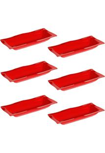 Saladeira Vemplast Moove Vermelho