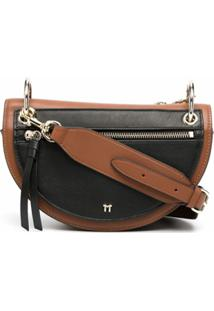 Tila March Bolsa Transversal Annabelle Color Block - Marrom