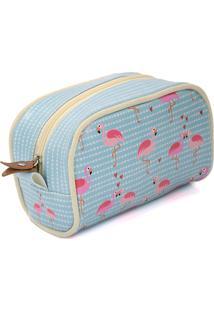 Necessaire De Viagem Pequena - Coleção Flamingo - Mood