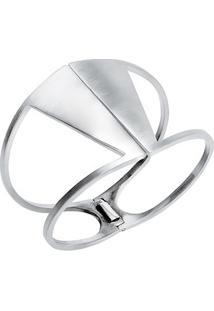 Bracelete De Prata Triângulos Simetria Uber47 - Feminino