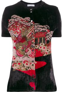 Paco Rabanne Japanese Garden-Jacquard Cardigan - Preto