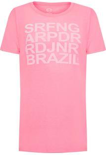 Camiseta Masculina Light Pet Surfing - Rosa