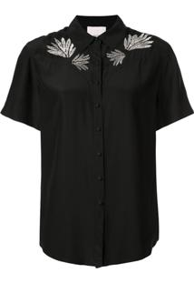 Cinq A Sept Blusa Bordada Bridget - Preto