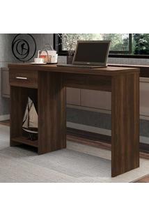 Mesa Para Computador 1 Gaveta Prisma New Capuccino - Móveis Germai