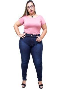Calã§A Jeans Latitude Plus Size Skinny Almezina Azul - Azul - Feminino - Dafiti