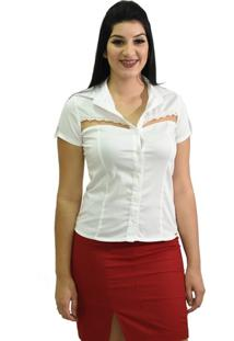 Camisa Energia Fashion Manga Curta Branco