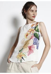 Regata Floral - Branca & Laranja- Milioremiliore