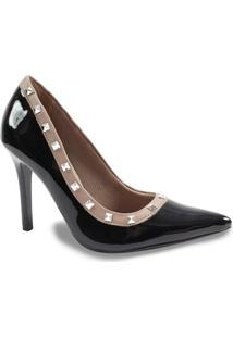 Sapato Scarpin Feminino Salto Alto Via Marte - Feminino-Preto