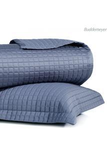 Kit Colcha Queen Bud Vision Cetim 270 Fios 3Pçs - Azul