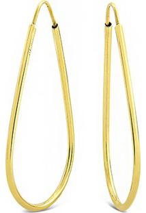 Argola Gota Ouro Amarelo 39 Mm