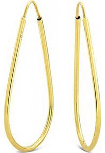 Argola Gota Ouro Amarelo
