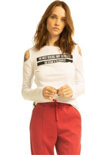 T-Shirt Nogah Creat It Branca Multicolorido