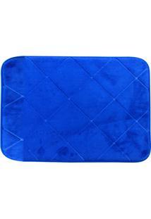 Tapete De Banheiro Em Microfibra 40X60Cm Azul