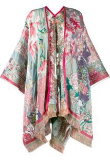 Etro Kimono De Jacquard Floral - Vermelho