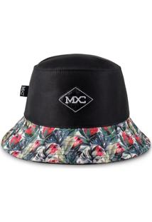 Chapéu Bucket Mxc – Black & Flowers Preto