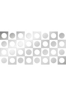 Espelho Love Decor Decorativo Kit Retro Único Prata - Kanui