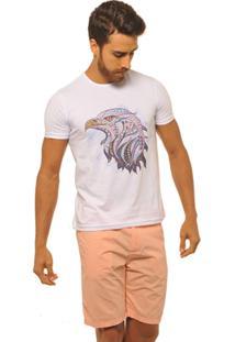 Camiseta Joss Premium New Aguia Étnica Masculina - Masculino-Branco