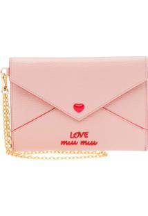 Miu Miu Carteira Envelope Madras - Rosa