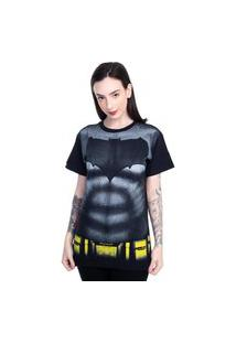 Camiseta Batman Peitoral Filme Preto