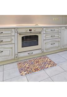 Tapete De Cozinha Mdecore Azulejo Amarelo 40X60Cm