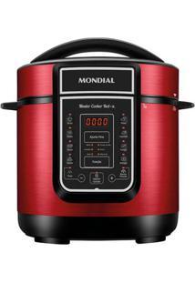Panela De Pressão Elétrica Mondial Digital Master Cooker Pe-41 Panela Elétrica Press O-127V-Vermelho/Inox