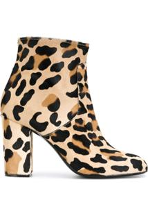 P.A.R.O.S.H. Ankle Boot Com Estampa De Leopardo - Neutro