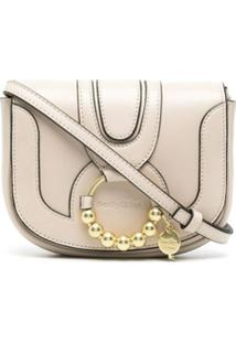 See By Chloé Embellished Leather Crossbody Bag - Neutro