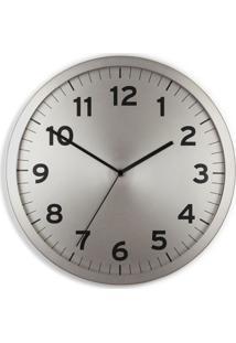 Relógio De Parede Anytime Prata