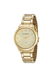 Kit Relógio Feminino Mondaine Analógico 53607Lpmvde1Kk + Pulseira Dourado