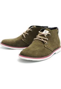 Bota Casual Magi Shoes Confortável Musgo