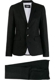 Dsquared2 Tailored Vented Blazer - Cinza