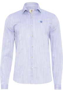 Camisa Masculina Linen Fesh - Azul