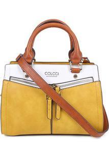 Bolsa Colcci Tote Shopper Feminina - Feminino-Caramelo+Amarelo