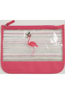 Necessarie Feminina Estampa Flamingo Marisa