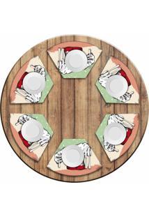 Jogo Americano Love Decor Para Mesa Redonda Wevans Italian Kit Com 6 Pçs