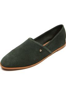 Alpargata Cravo & Canela Furos Verde