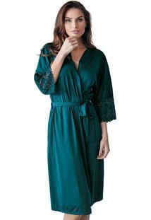 Robe Roupão Nupcial Demillus 31005 Verde Esmeralda